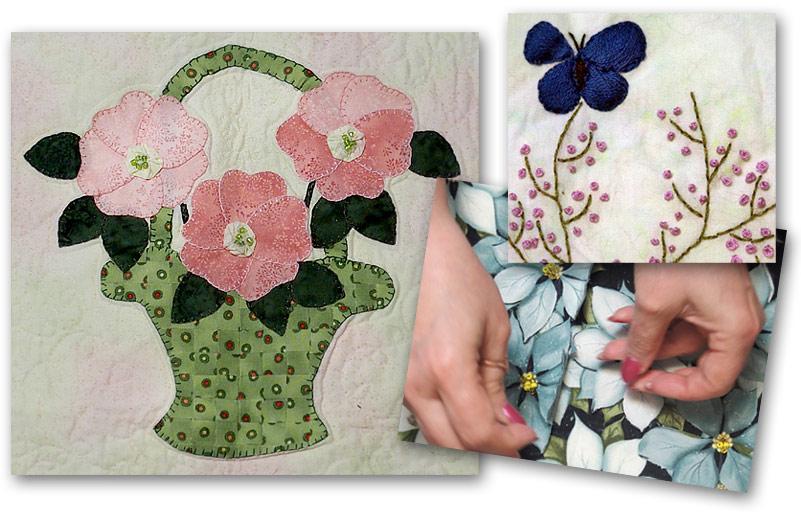 Embroidery class by Lynn Kane